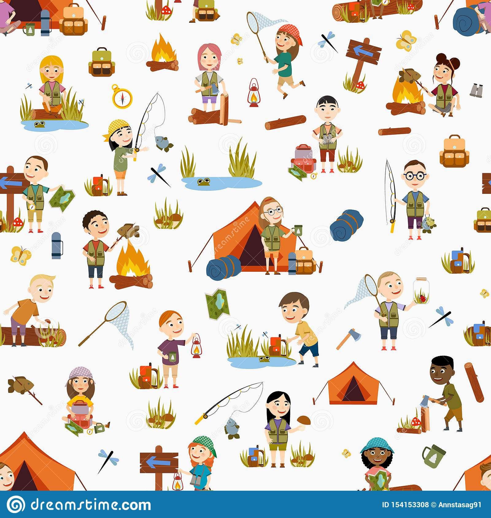 Girls Scouts Stock Illustrations 51 Girls Scouts Stock