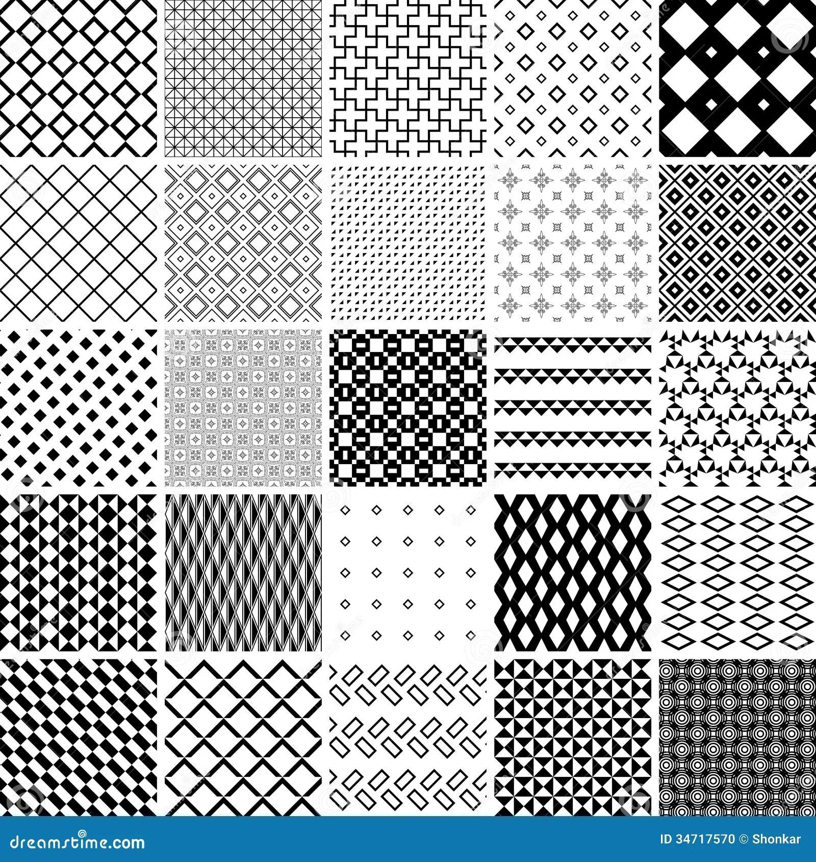 Black White Square Wallpaper Seamless Pattern Stock Photo Image 34717570