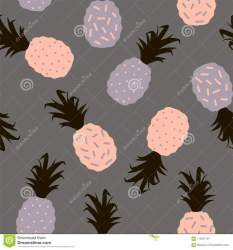 pineapple vector background silhouettes colored multi seamless pattern preview sweet
