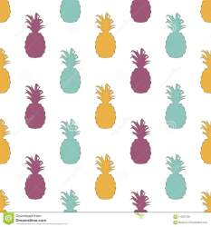 pattern multi seamless pineapple vector silhouettes colored