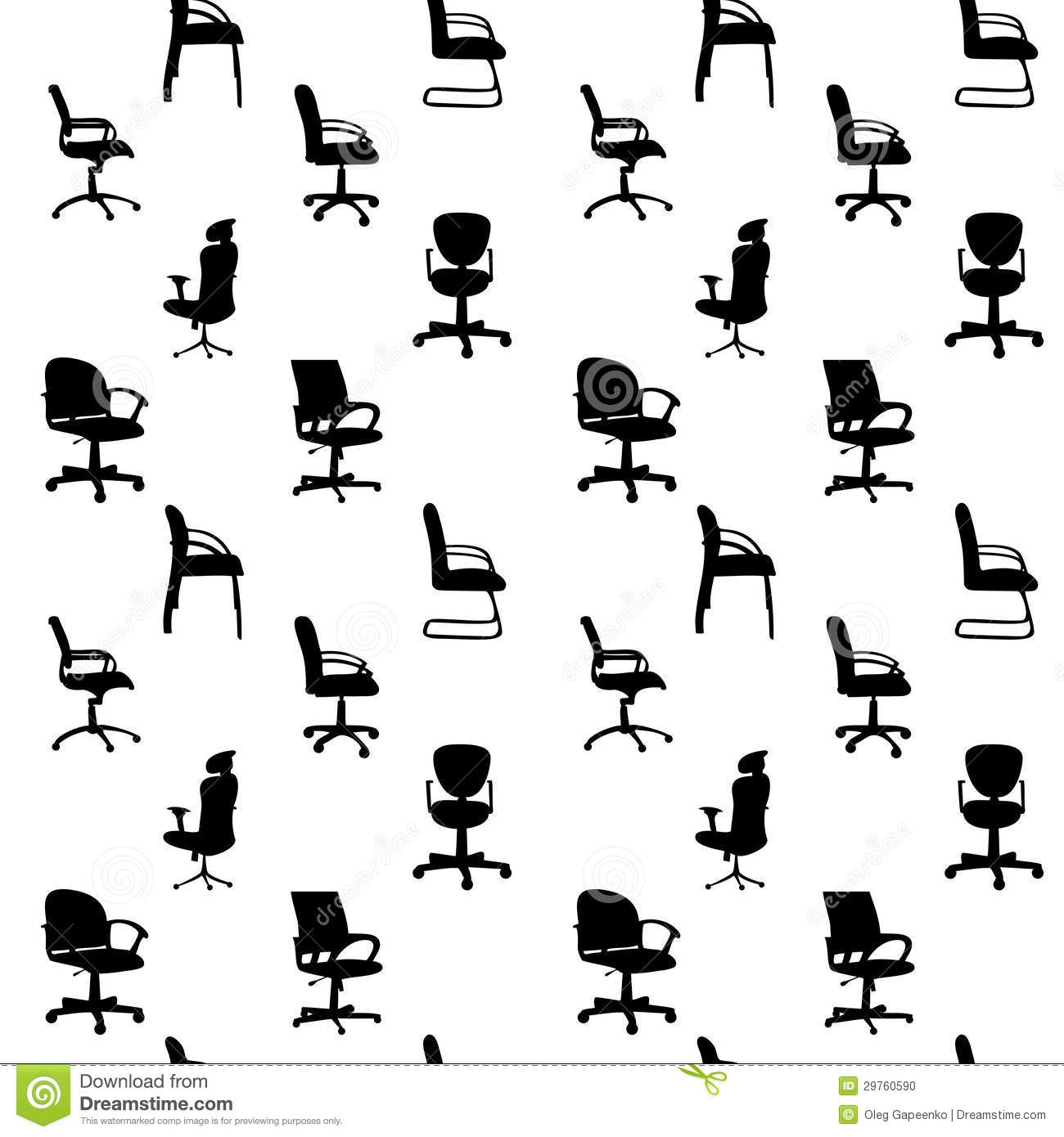 office chair vector backless height stool seamless pattern of chairs silhouettes stock photo