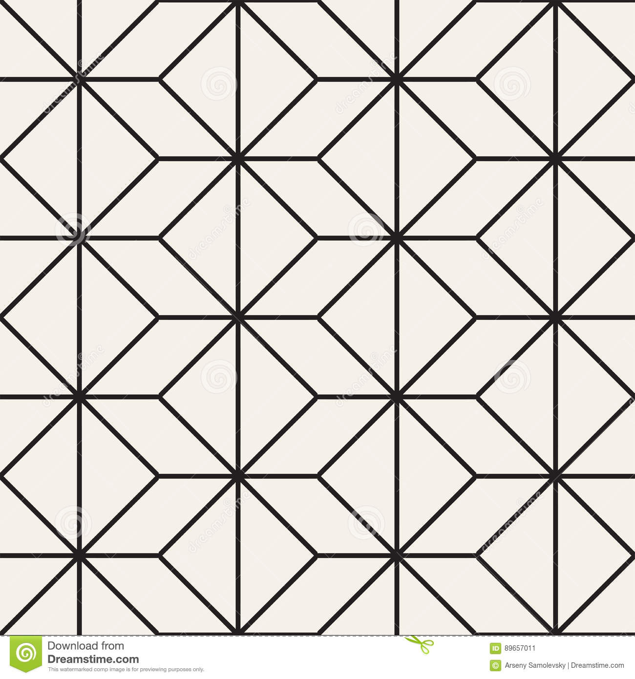 Seamless Pattern With Squares Vector Stylish Geometric
