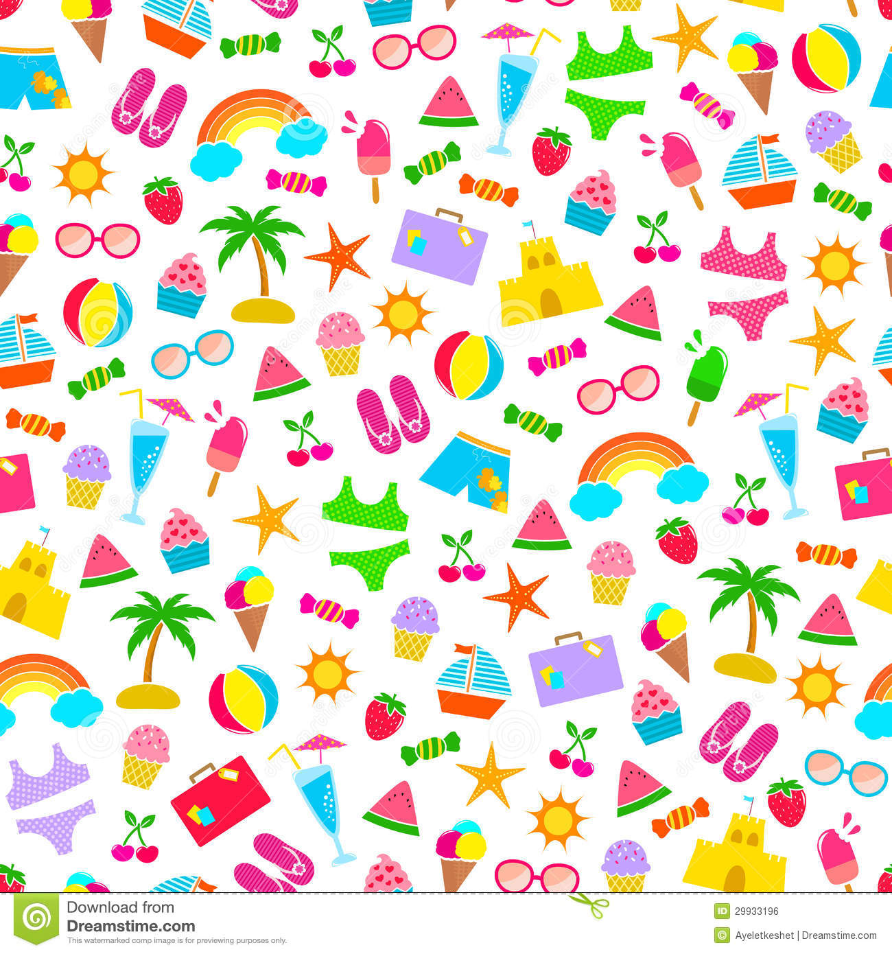 Cute Popsicle Wallpaper Summer Pattern Stock Vector Image Of Image Group Icons