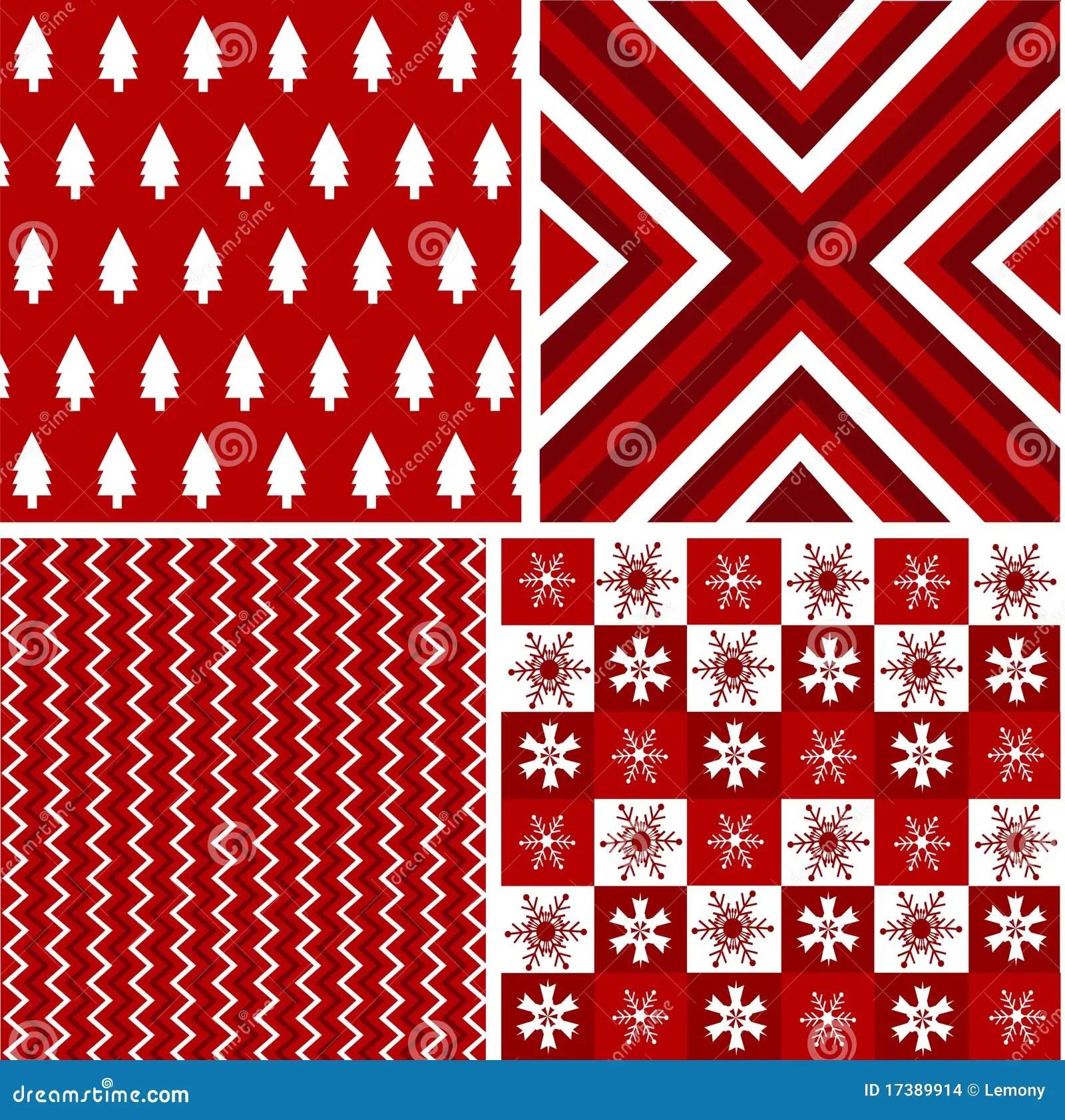 Black Plaid Wallpaper Seamless Patterns Christmas Fabric Texture Stock Vector