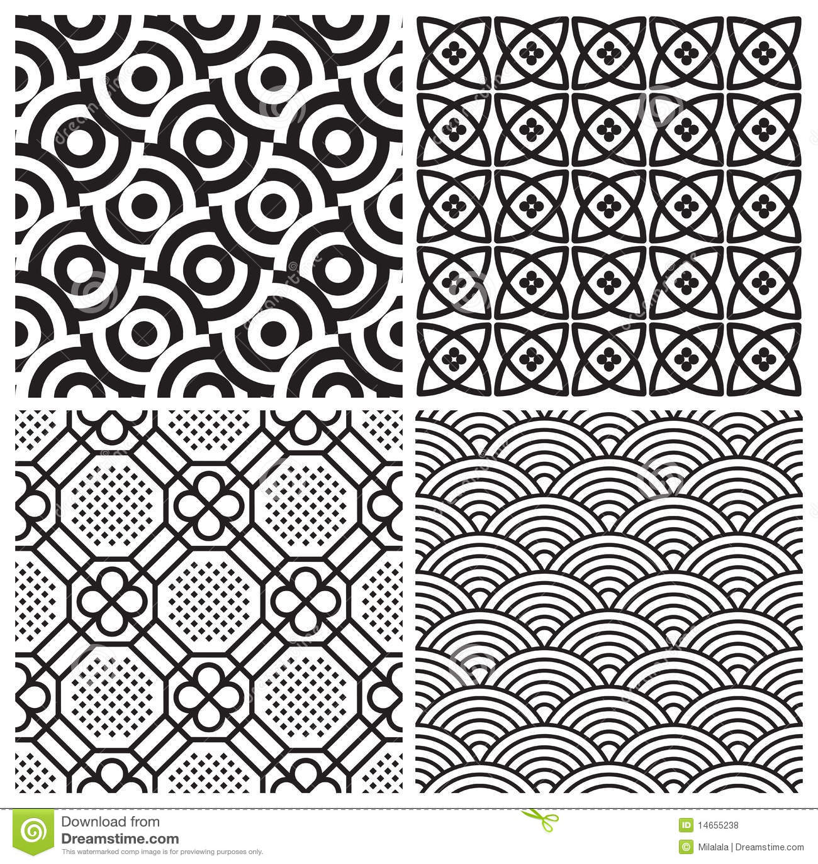 Seamless Patterns Set (vector) Stock Vector - Illustration of geometric. ornament: 14655238