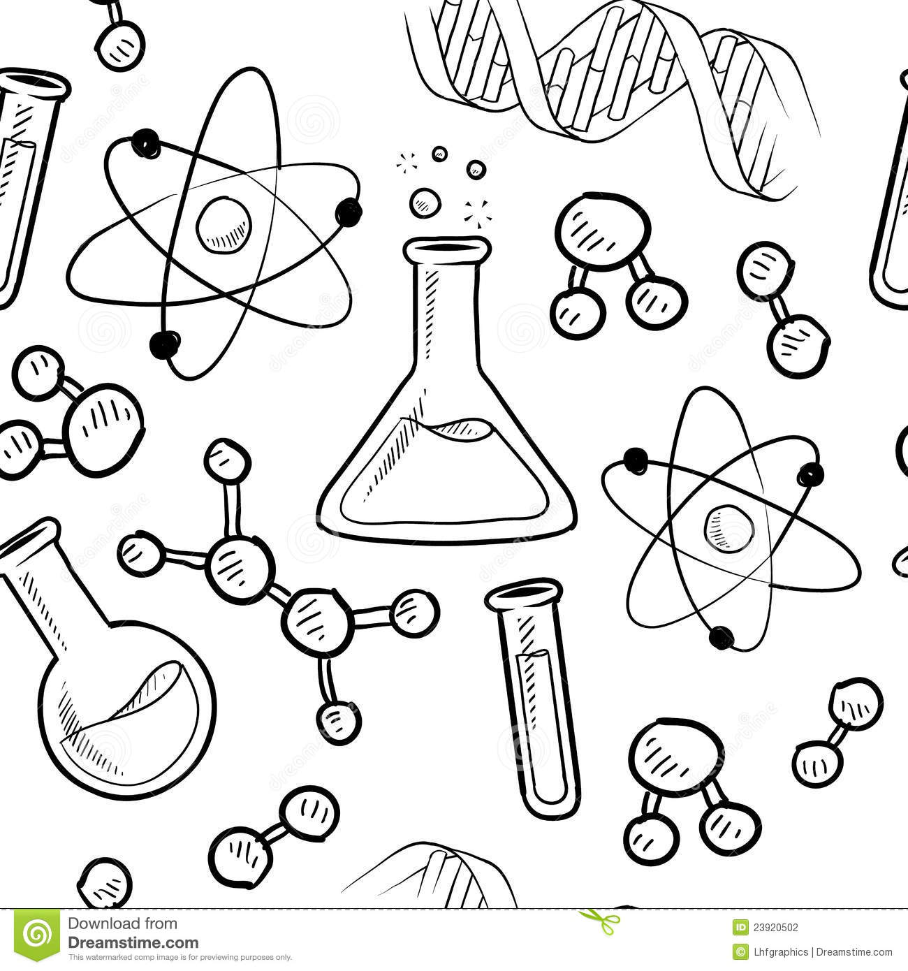 Seamless Science Lab Background Stock Vector
