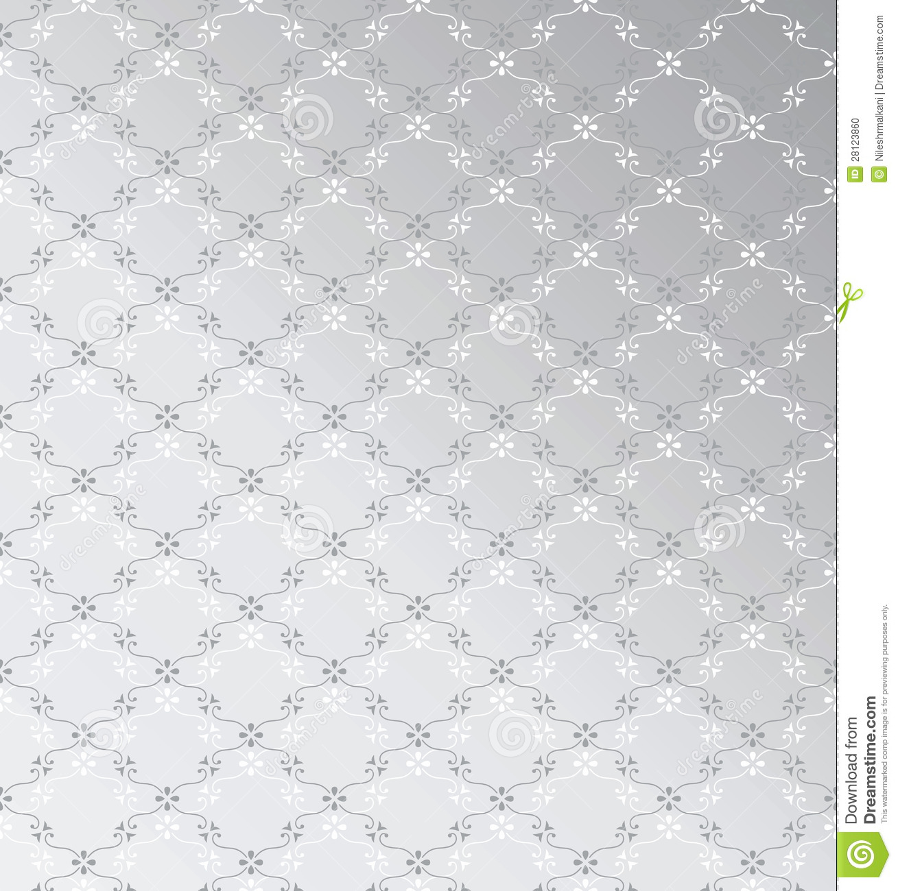Black And Silver Floral Wallpaper Seamless Silver Background Stock Vector Image Of Pattern