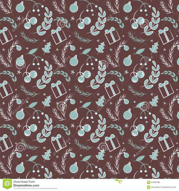 Seamless Simple Vector Graphics Pattern. Tile Christmas