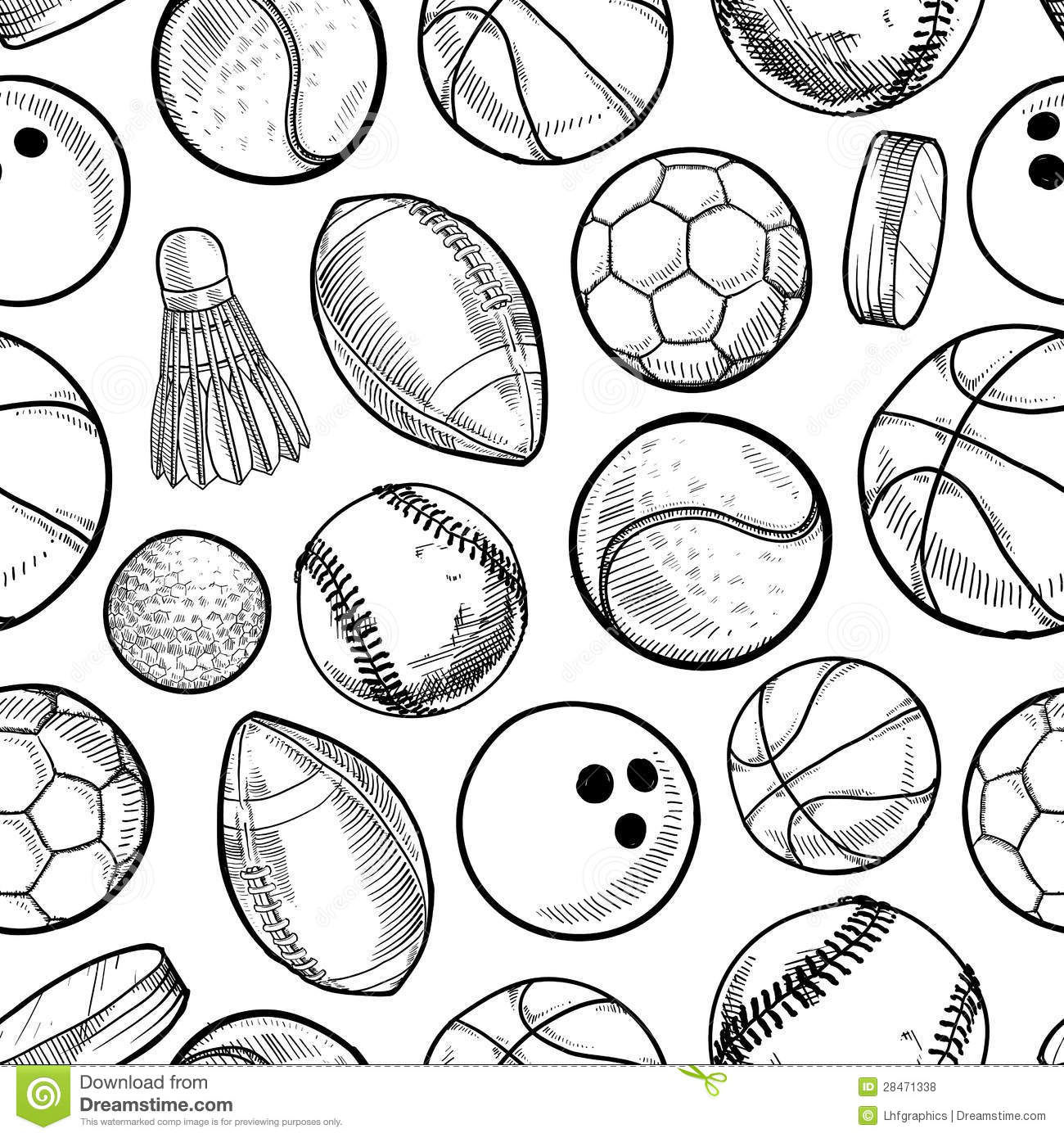 Seamless Sports Background Stock Vector Image Of