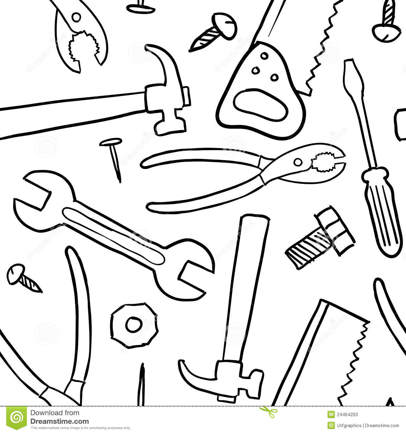 Seamless Tools Vector Background Stock Vector