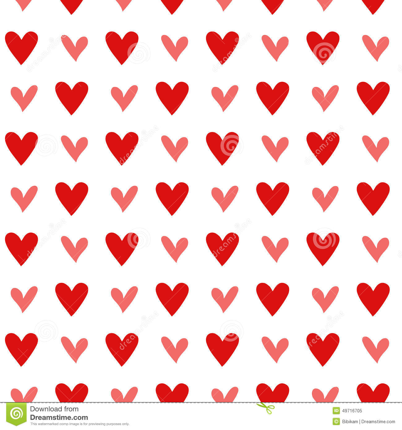 Seamless Vintage Heart Pattern Background Stock Image
