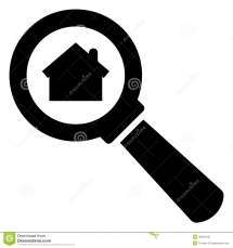 Black and White Magnifying Glass Icon