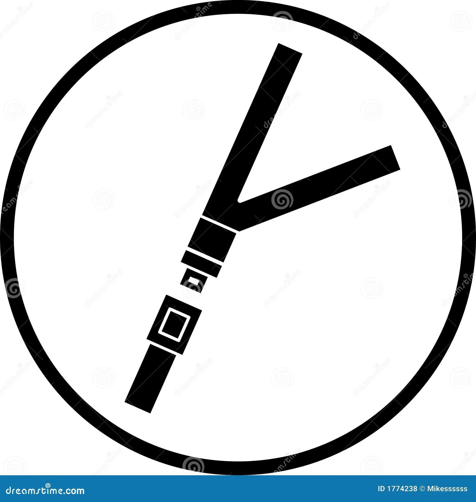 Seat Belt Vector Symbol Stock Vector Image Of Belt