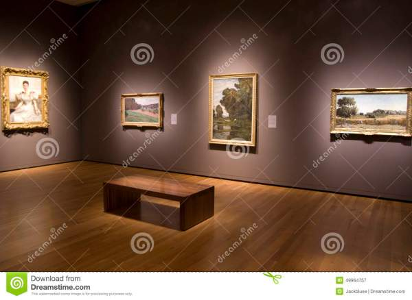 Seattle Art Museum Interior Antique Paintings Editorial