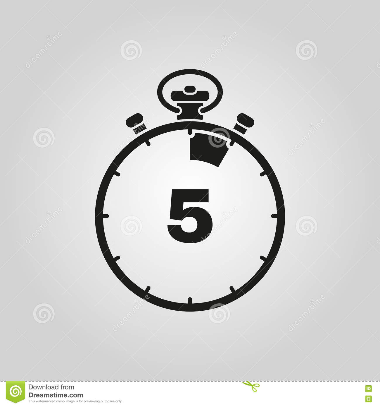 The 5 Seconds Minutes Stopwatch Icon Clock And Watch