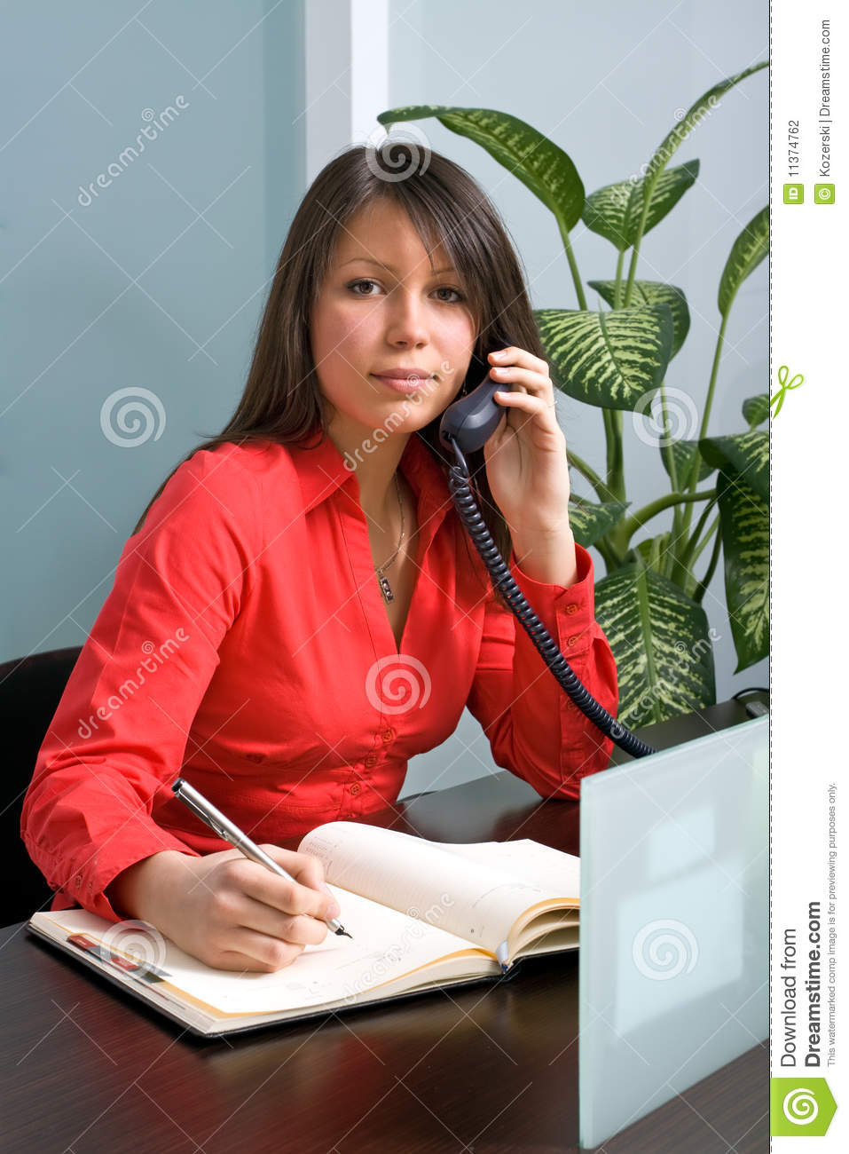 Secretary In The Office Stock Photography  Image 11374762