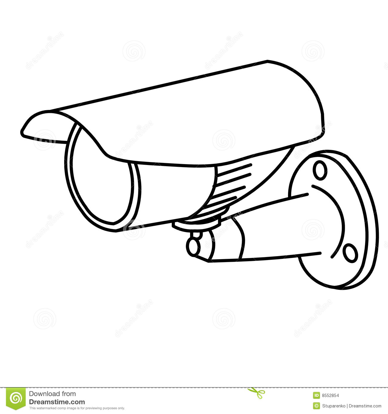 Security camera stock illustration. Image of observe