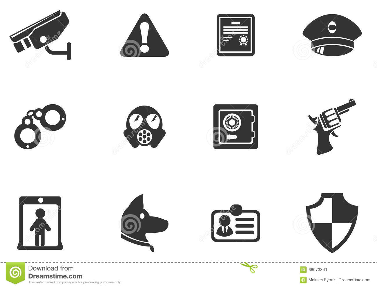 Security Symbols Stock Vector Illustration Of Sign