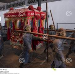 Chinese Wedding Sedan Chair Black Covers The In Ancient China Stock Photo Image 76997214