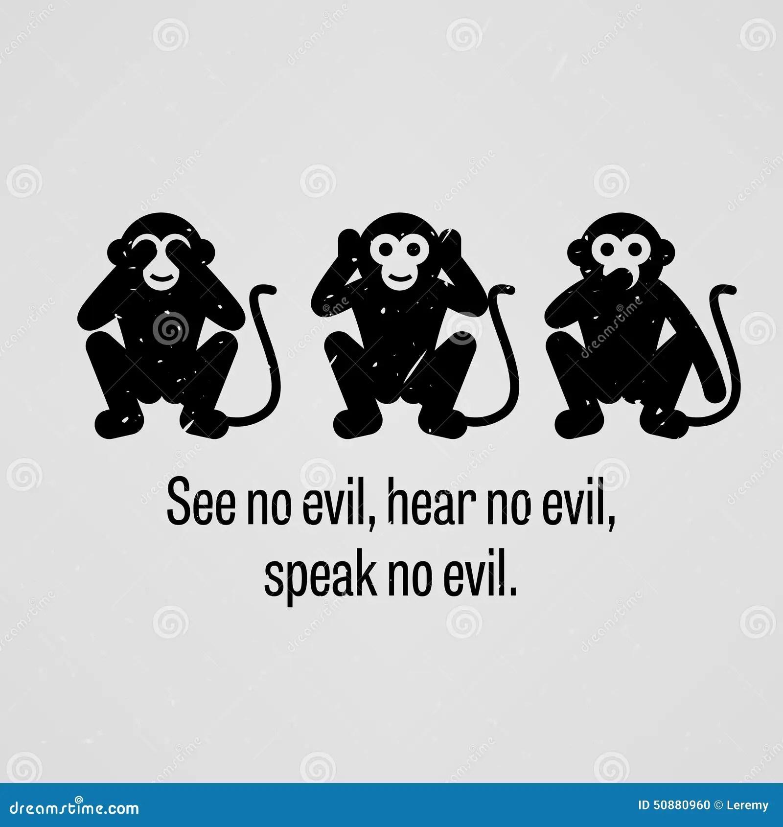 See No Evil Hear No Evil Speak No Evil Stock Vector