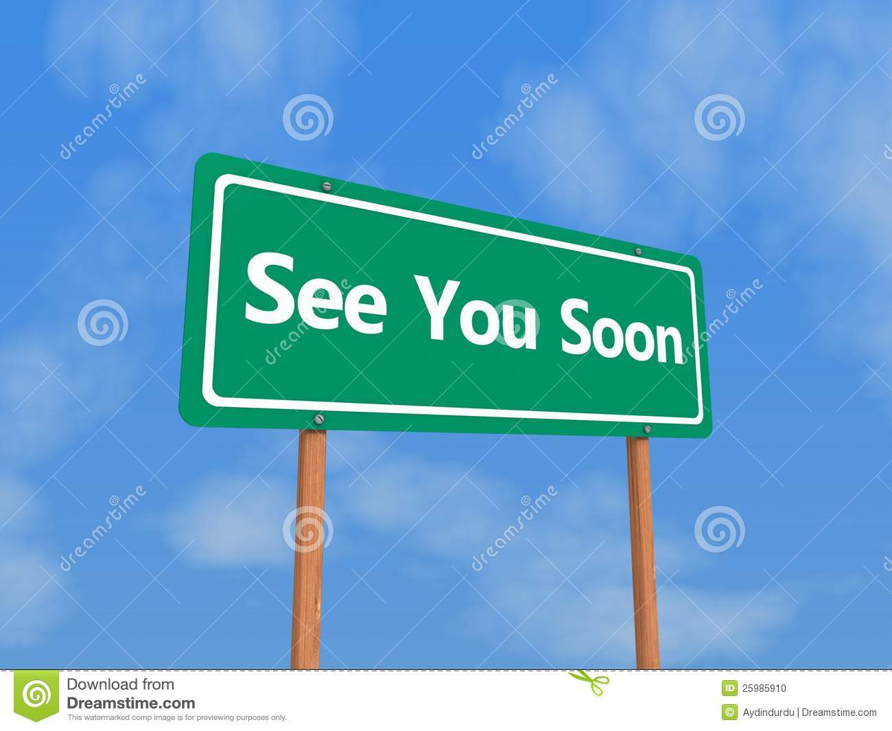 See You Soon Sign Stock Illustration Illustration Of