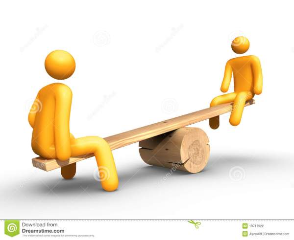 Seesaw stock illustration Image of light equilibrium