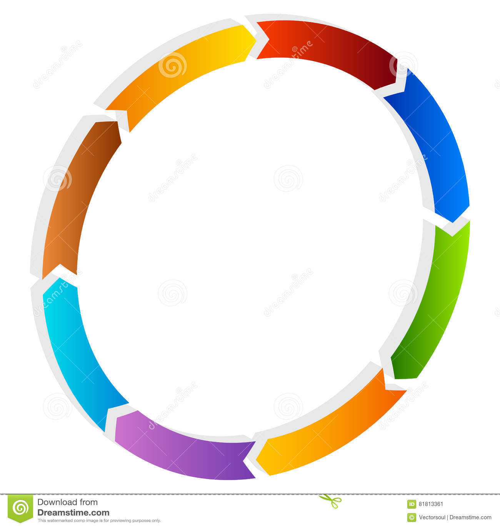 arrow circular process diagram toyota mr2 alternator wiring segmented circle icon