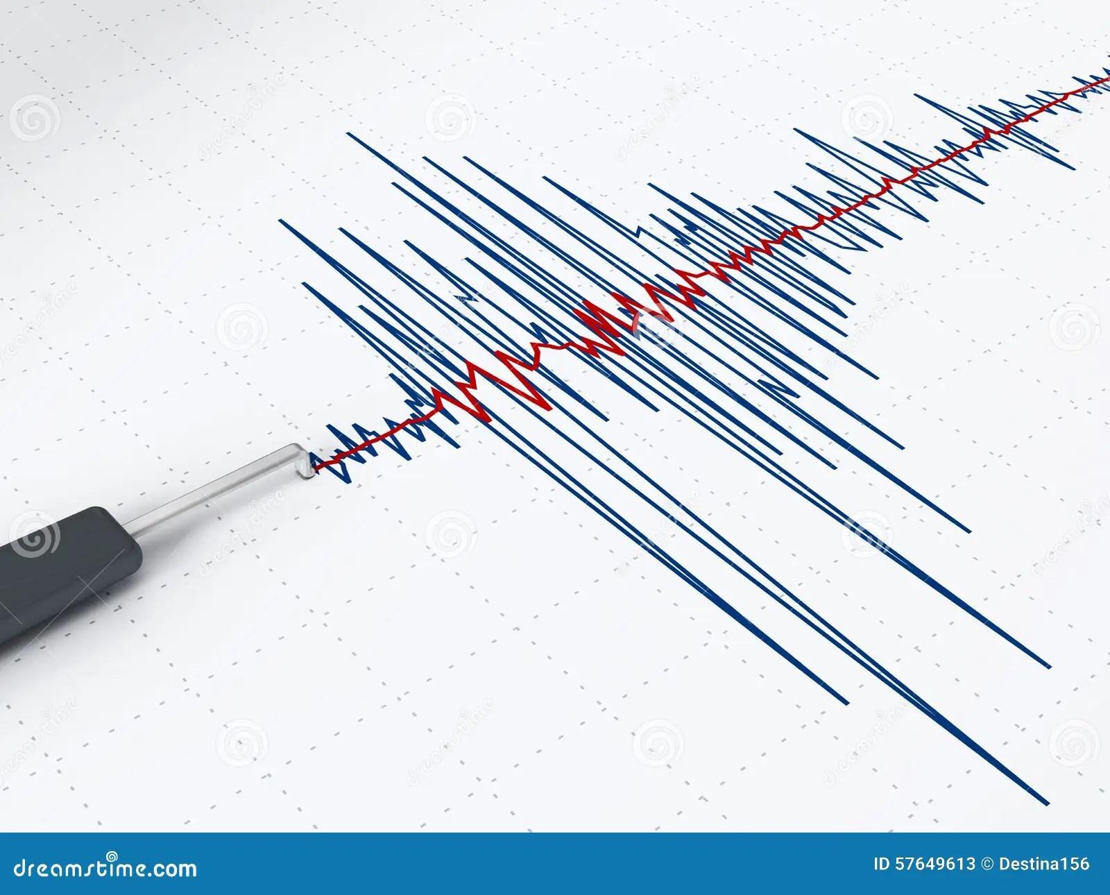 Seismic Activity Graph Stock Illustration