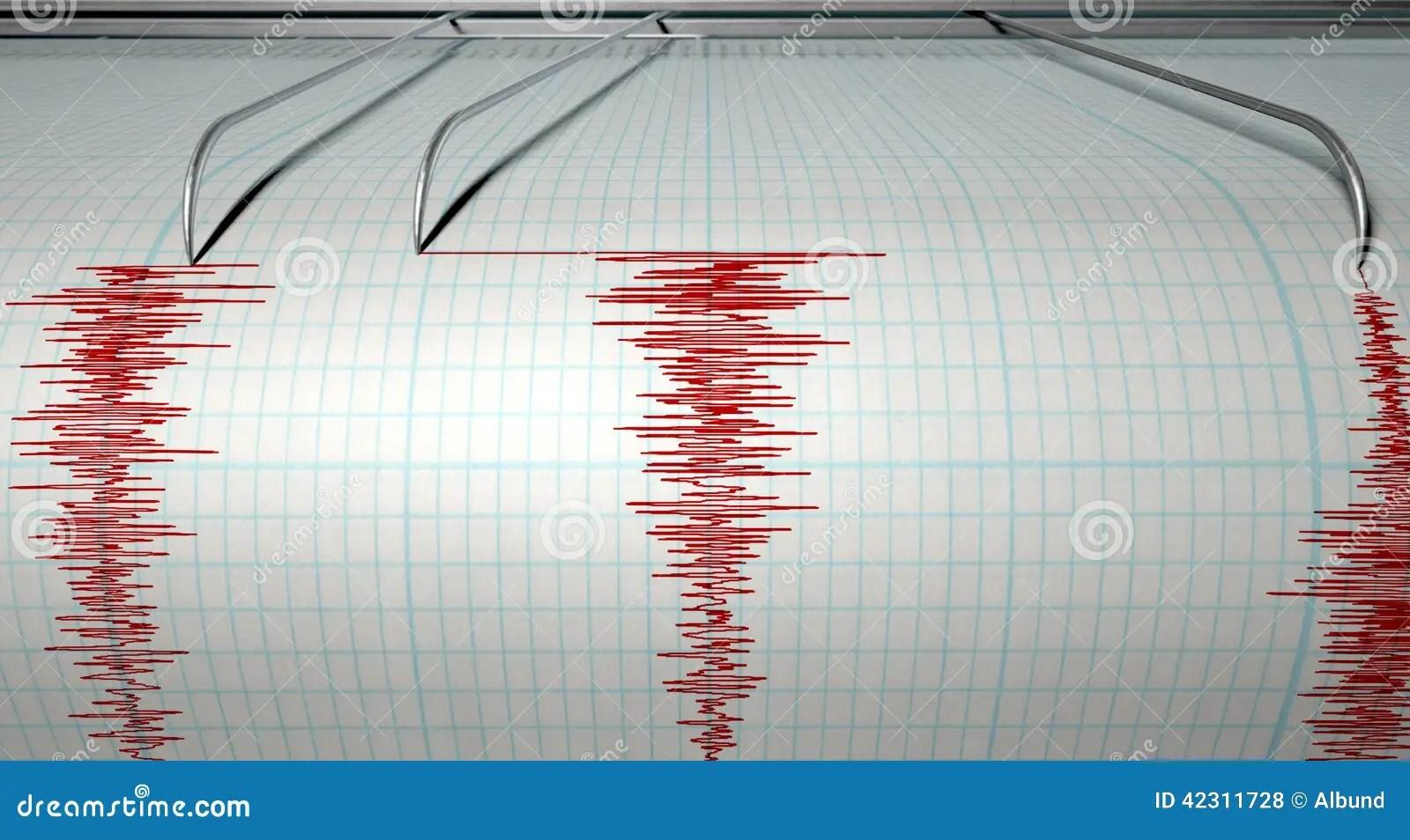 Seismograph Earthquake Activity Stock Illustration