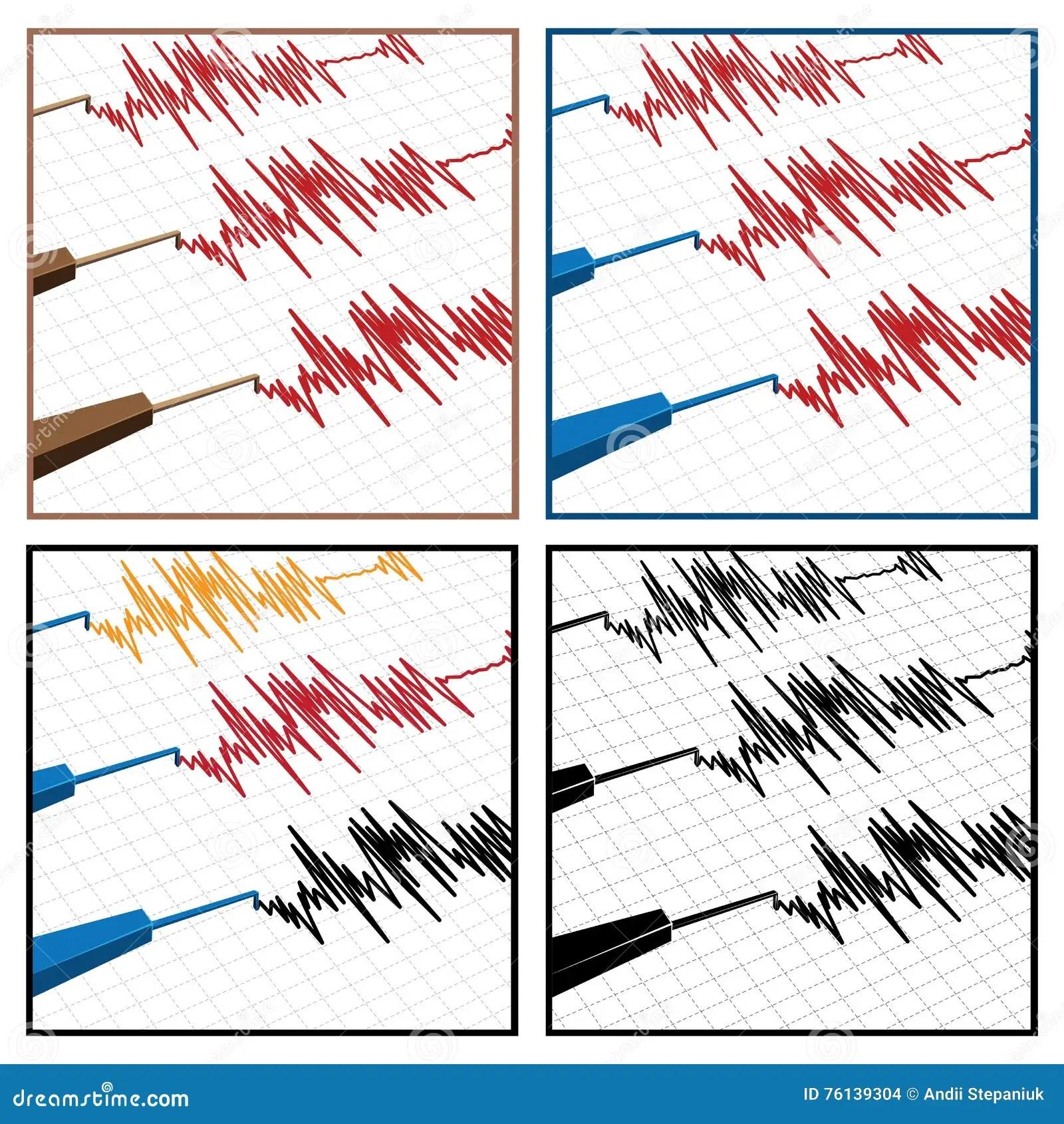 Seismograph Stock Vector
