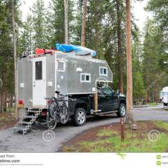 Camping Trailer Usa Electronic Wiring Diagram Symbols Self Made Truck Camper Yellowstone National Park Wy