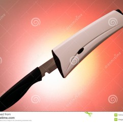 Self Sharpening Kitchen Knife Chrome Faucet Stock Image Of Sharp