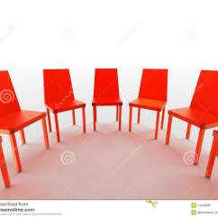 Half Circle Chair Upholstered Vanity Semi Of Red Chairs Stock Illustration Image