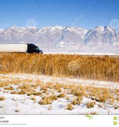 i 70 towing utah truck towing enclosed trailer royalty free stock photography [ 1300 x 909 Pixel ]