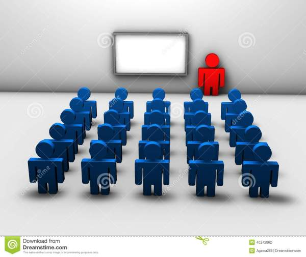 Seminar Business Training 3d Abstract Concept Stock