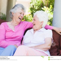 Garden Chair Design Plans Disney Bean Bag Chairs Senior Female Friends Laughing Together Royalty Free Stock Photos - Image: 5116018