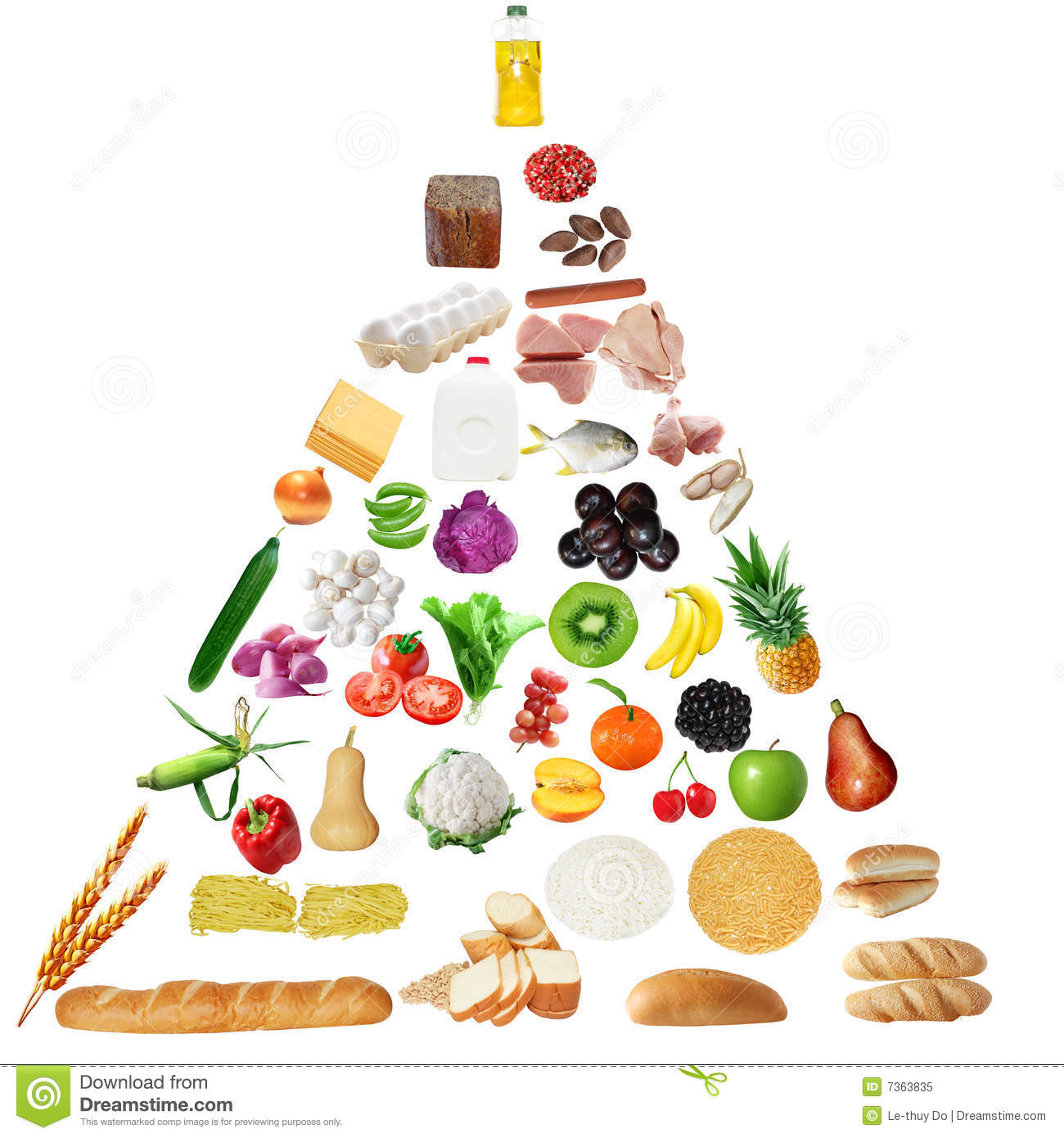 Senior Food Pyramid Stock Image Image Oft Fats