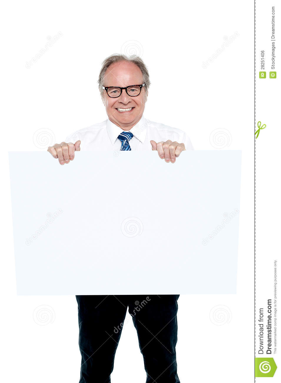 Senior Marketing Manager Holding Up A Blank Ad Board Royalty Free Stock Image  Image 28251406