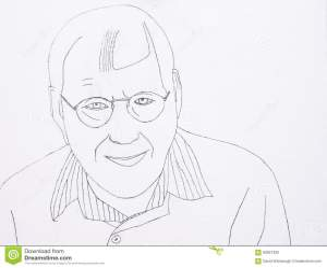 smiling senior illustration
