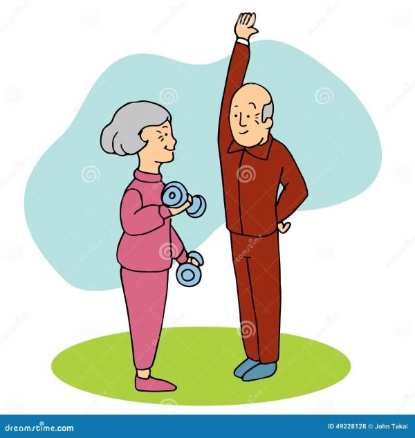 Seniors Working Stock Vector - 49228128