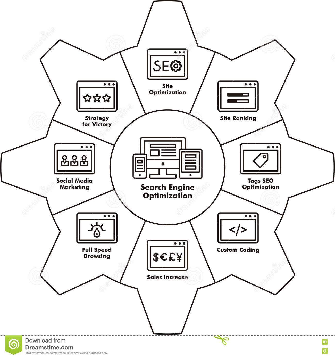 Seo Components Icon Stock Photo