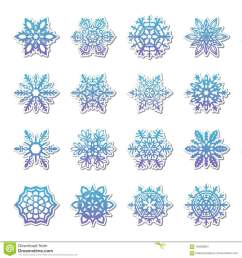 separate snowflakes doodles vector rustic christmas clipart new year snow crystal illustration in flat style [ 1300 x 1390 Pixel ]