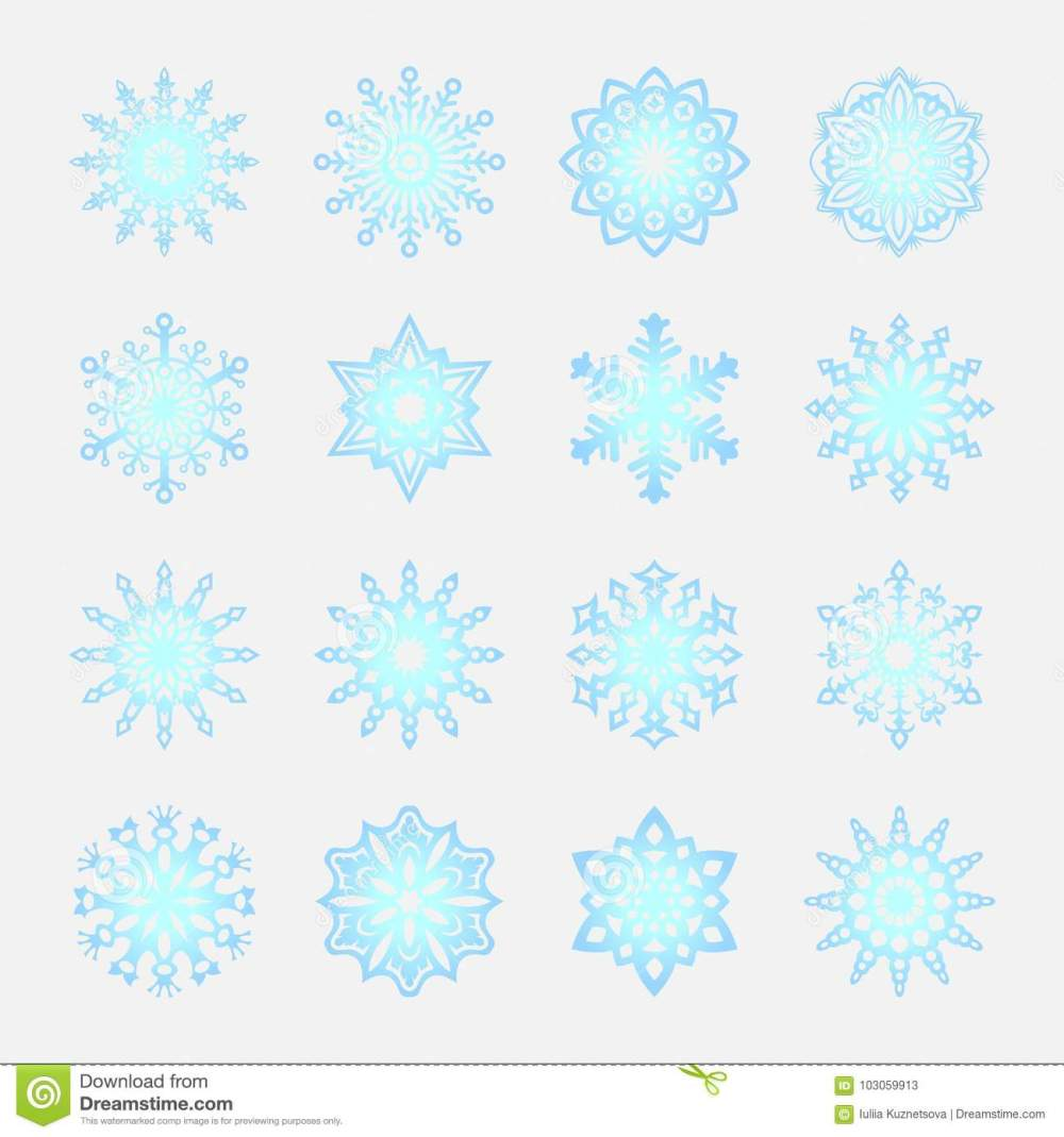 medium resolution of separate snowflakes doodles vector rustic christmas clipart new year snow crystal illustration in flat style