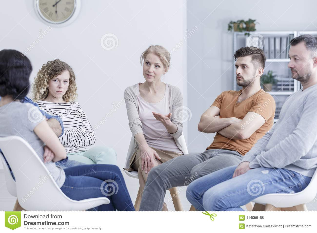 Family Group Therapy Stock Images