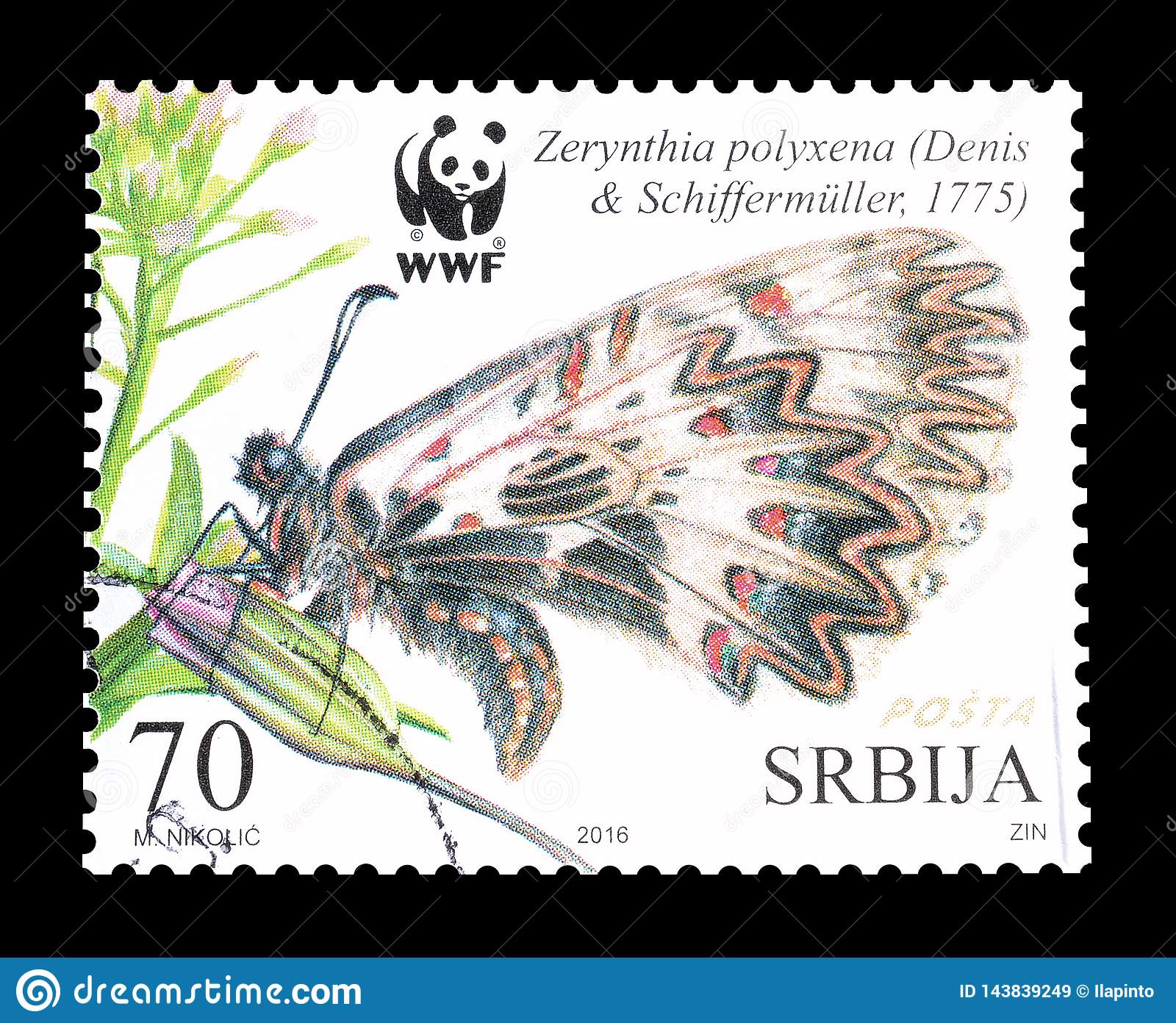 serbia on postage stamps