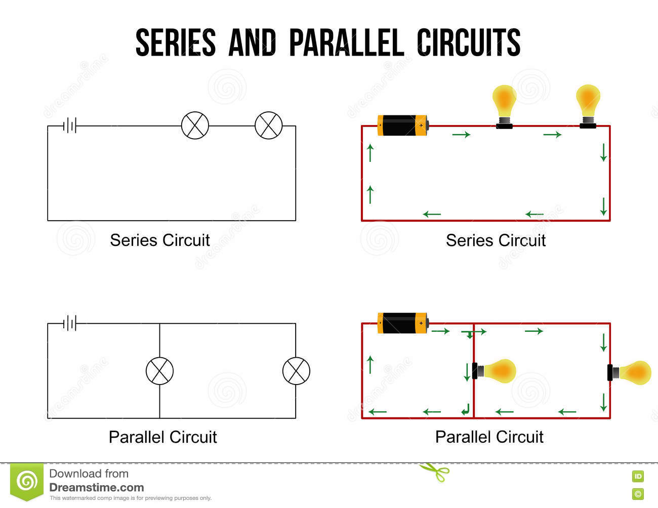 parallel circuit diagram 1971 chevelle starter wiring electric vector art elsavadorla