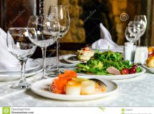 Served Banquet Restaurant Table Stock Photo - Image: 47606077