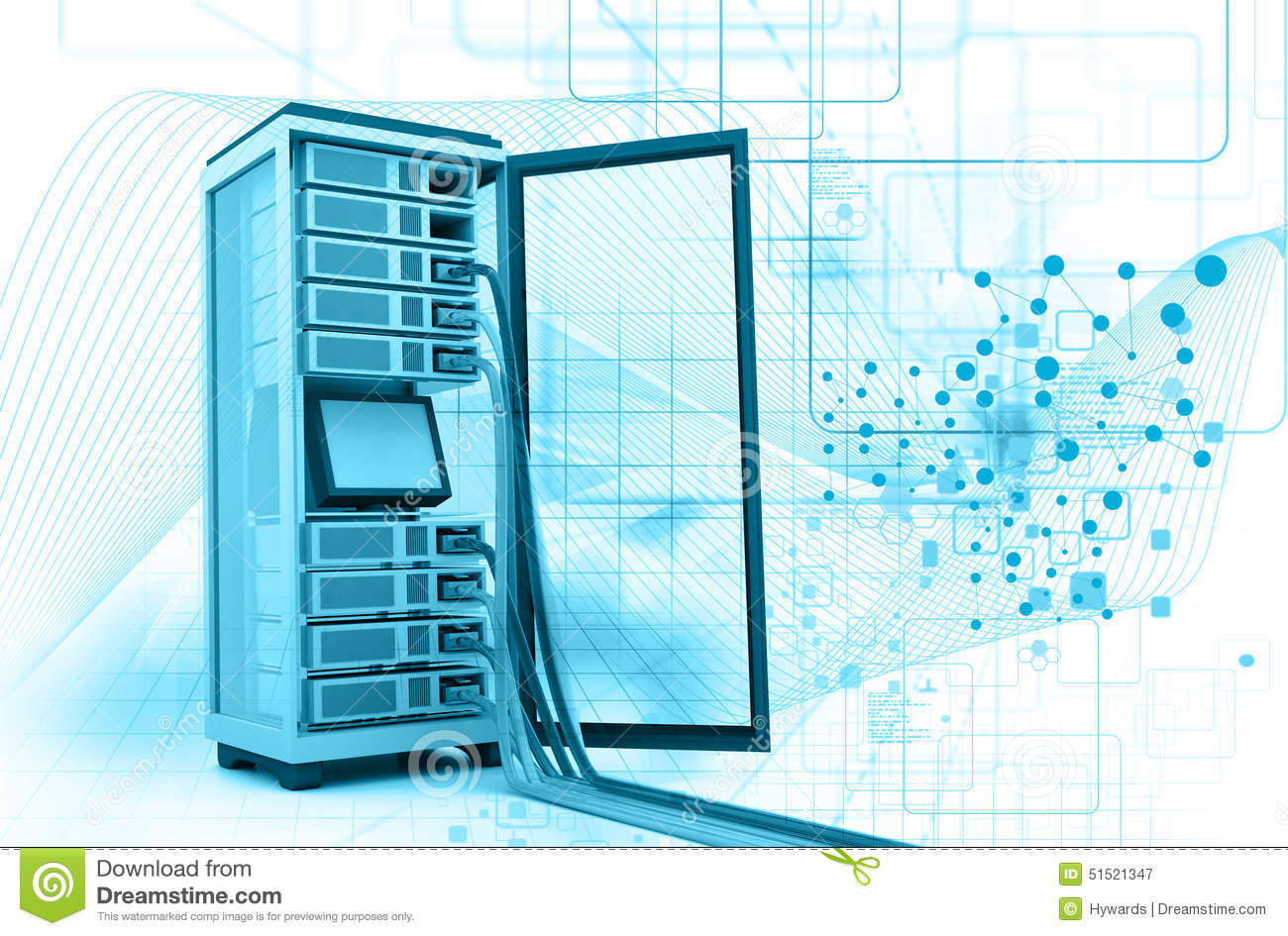 hight resolution of server rack with network cables