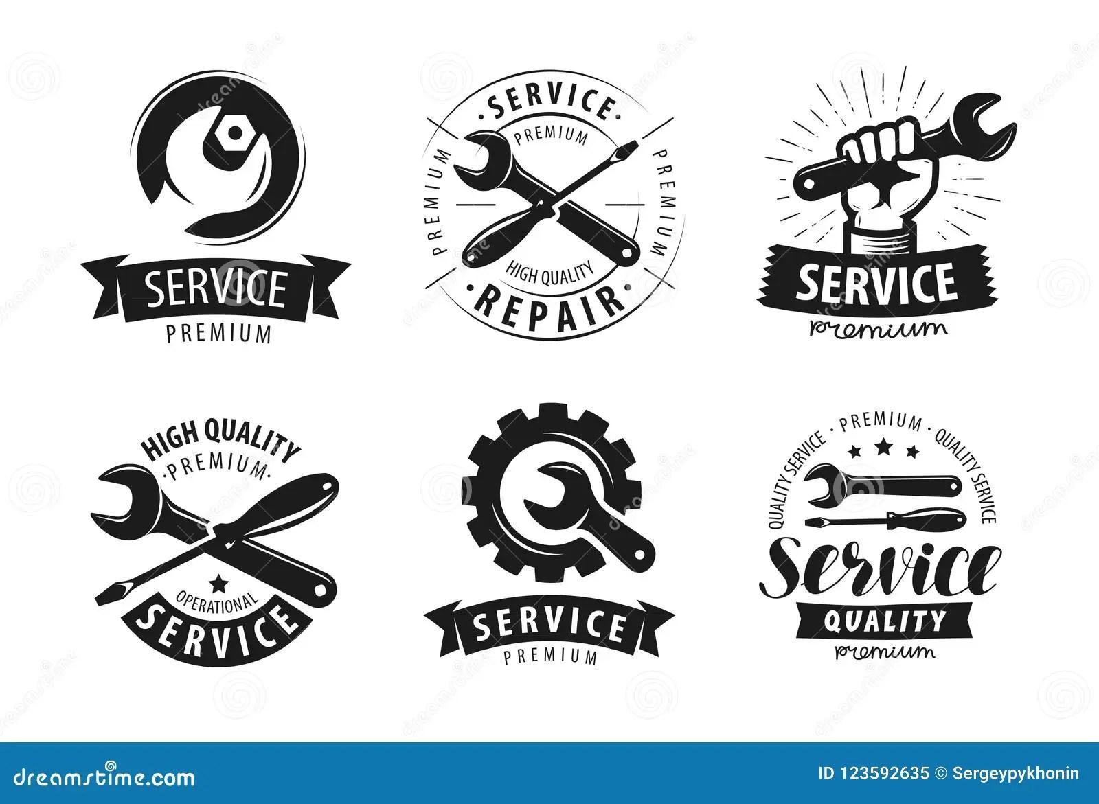 Service Ensemble De Reparation De Labels Ou Logos Icone