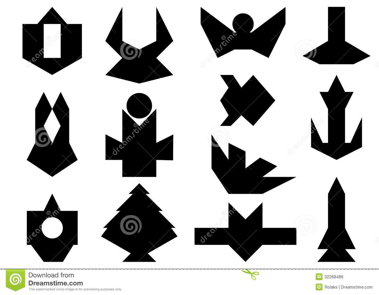 Set Of Abstract Shapes Stock Vector Illustration Of